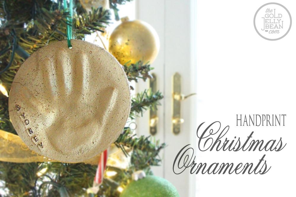 diy making handprint xmas ornaments  Babysmiles  Happy Baby